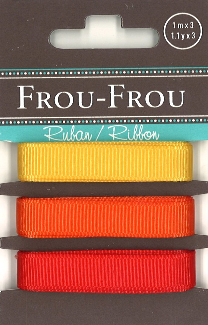 Frou-Frou 3 nastri in grograin tonalità giallo