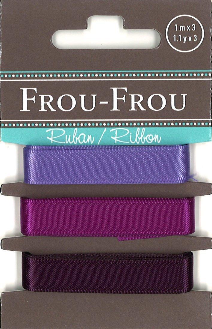 Frou-Frou 3 nastri in raso tonalità prugna