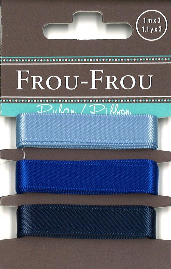 Frou-Frou 3 nastri in raso tonalità blu