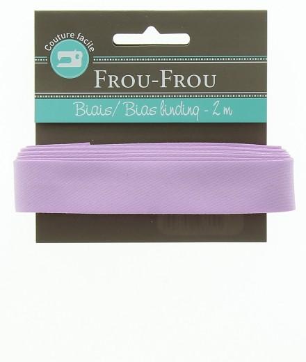 Frou-Frou nastro in cotone per sbieco lilla