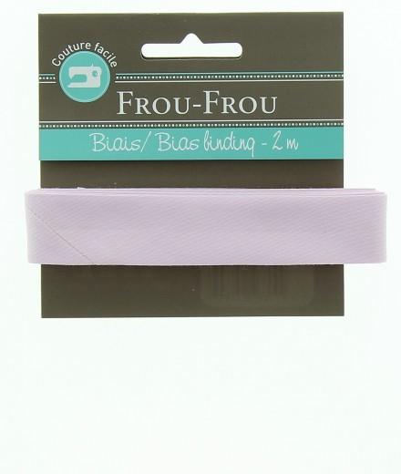 Frou-Frou nastro in cotone per sbieco prugna chiaro