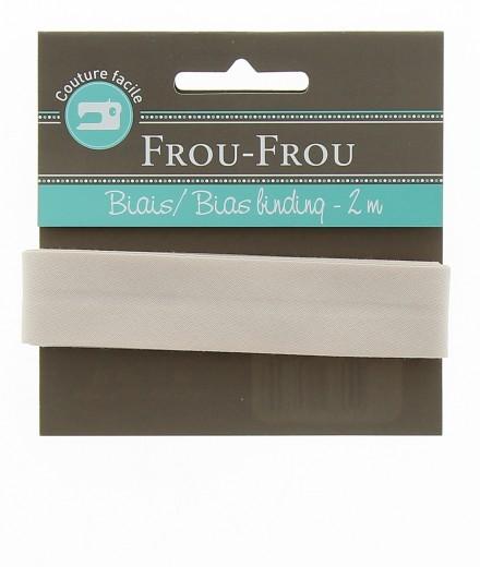 Frou-Frou nastro in cotone per sbieco giallo chiaro