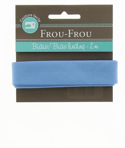 Frou-Frou nastro in cotone per sbieco azzurro