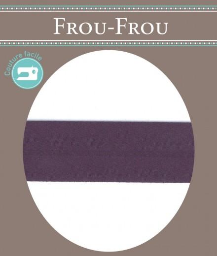 Frou-Frou nastro in cotone per sbieco prugna scuro