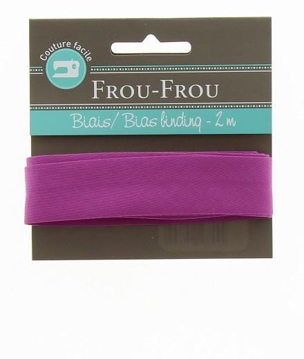 Frou-Frou nastro in cotone per sbieco magenta