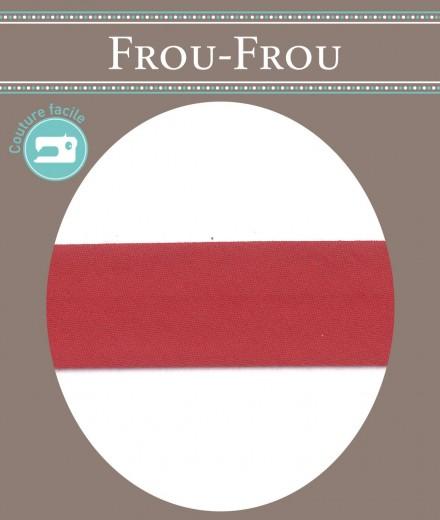 Frou-Frou nastro in cotone per sbieco rosso