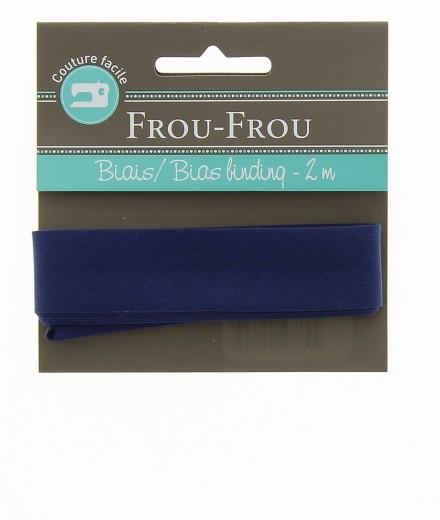 Frou-Frou nastro in cotone per sbieco blu