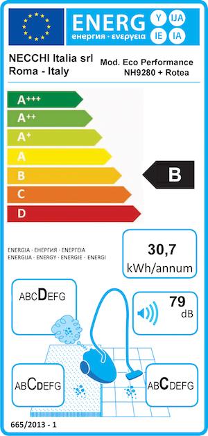 classe energetica + elettrospazzola
