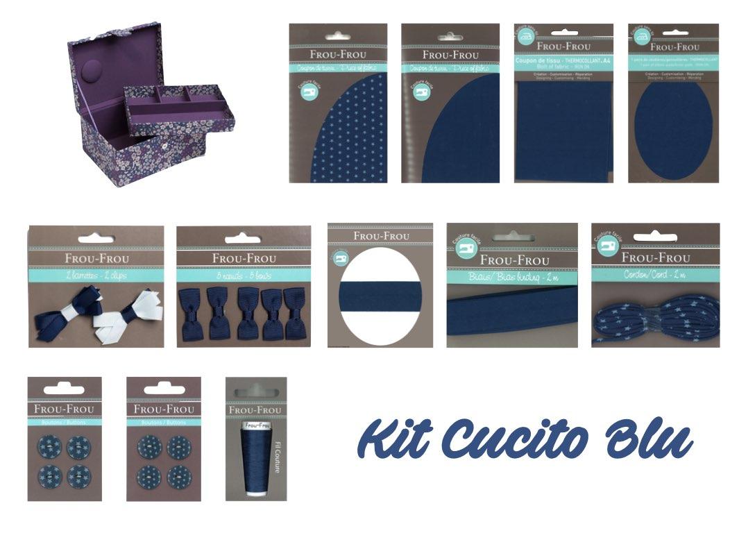 Necchi kit cucito blu froufrou