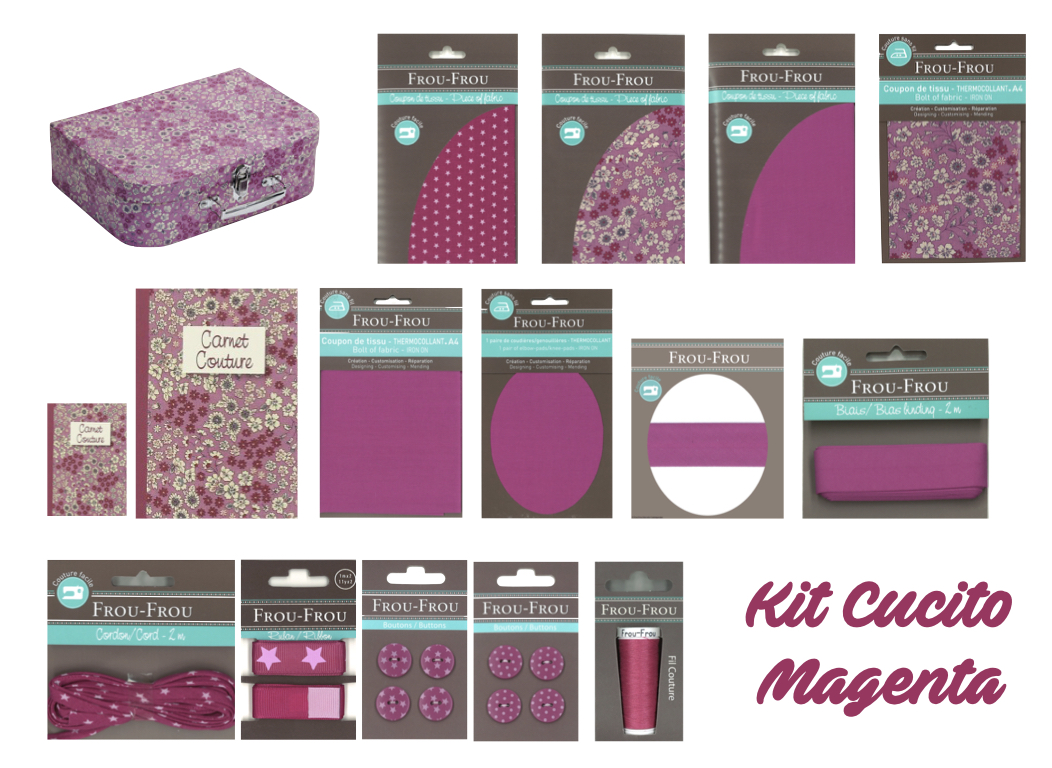 Necchi kit cucito magenta froufrou