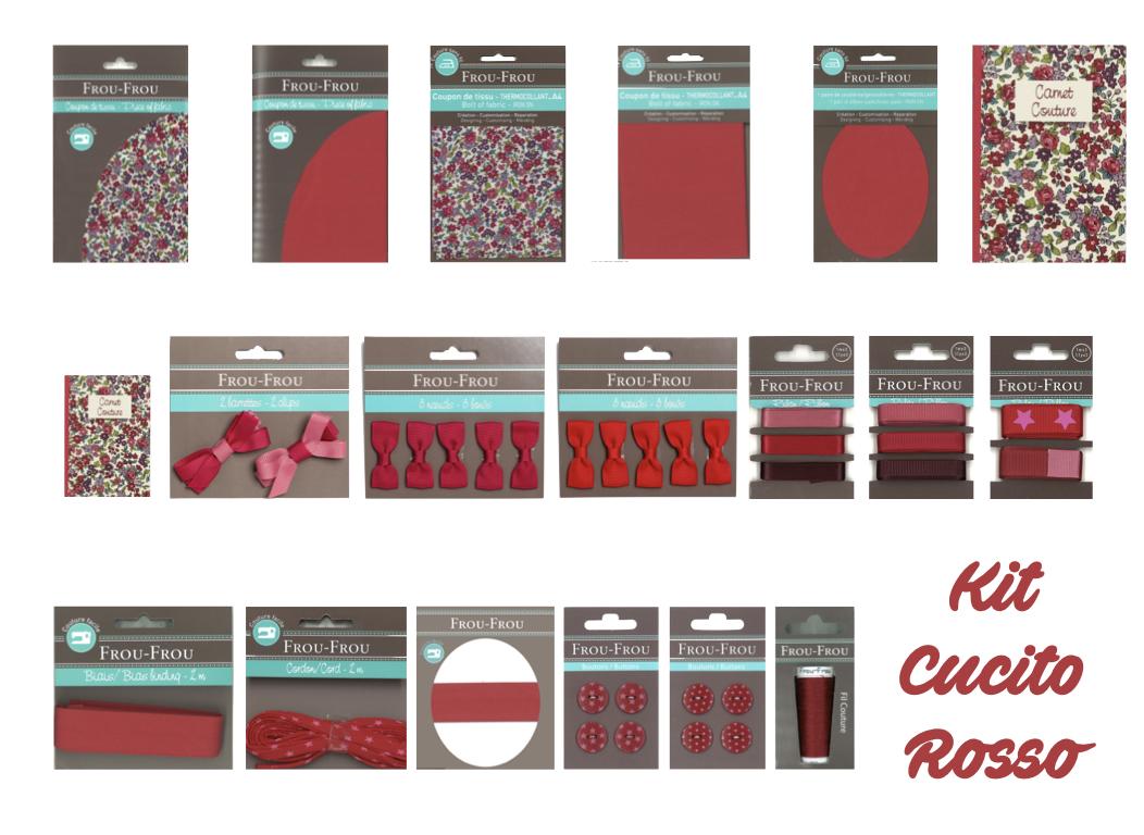 Necchi kit cucito rosso froufrou