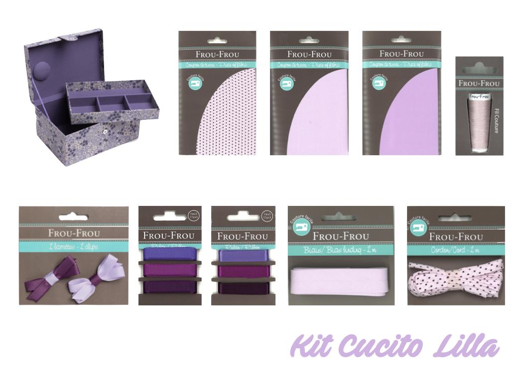 Necchi kit cucito lilla froufrou