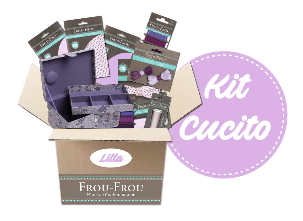 Necchi kit cucito lilla