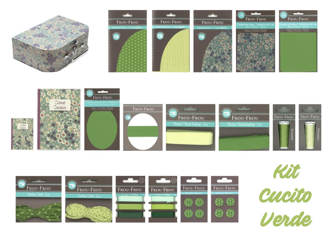 Necchi kit cucito verde froufrou