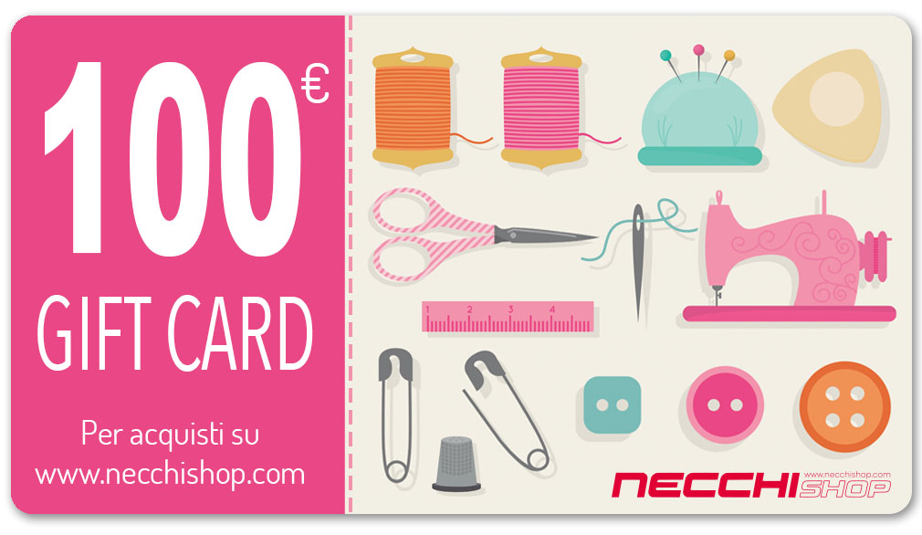 Necchi gift card 100