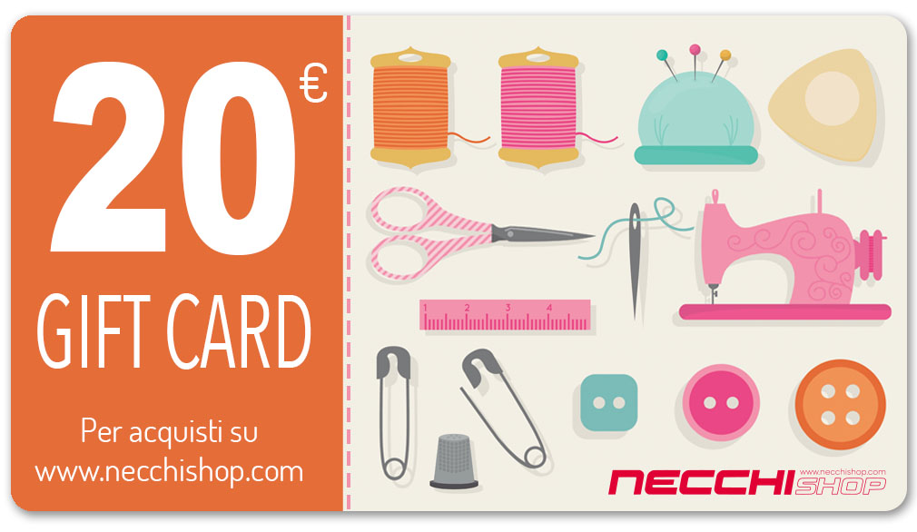 Necchi gift card 20