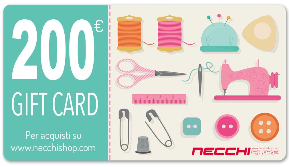 Necchi gift card 200