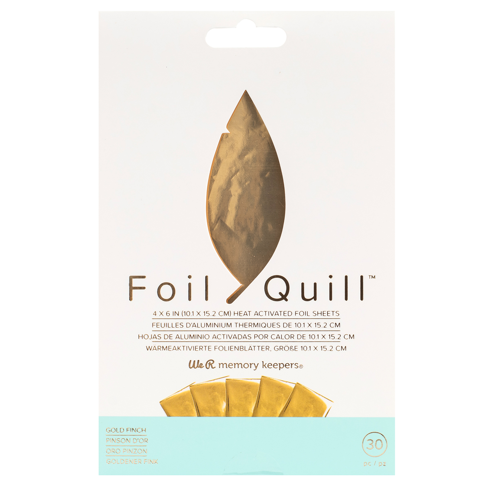 foil quill gold finch