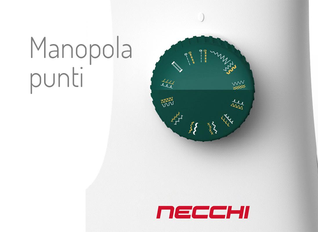 Necchi K121A manopola punti
